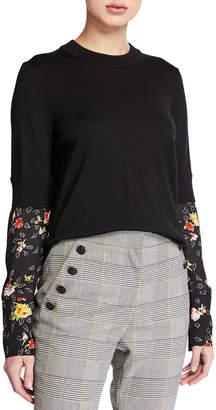 Veronica Beard Roscoe Mixed-Media Sweater