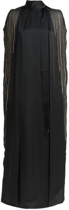 Taller Marmo Dea Embellished Cape Dress