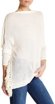 Derek Lam 10 Crosby Open Back Linen Blend Sweater