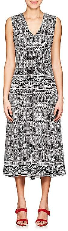 Derek Lam Women's Geometric-Print Silk Midi-Dress