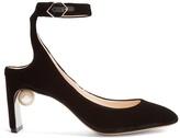 Nicholas Kirkwood Lola pearl-heeled velvet pumps