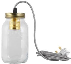 Jamjar Lights JamJar lights - Silver Cable Jar Light - Glass/Silver