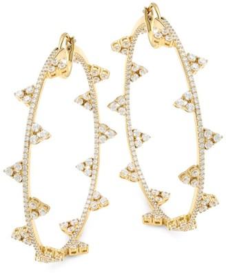 Adriana Orsini 18K Goldplated Sterling Silver & Cubic Zirconia Hoop Earrings