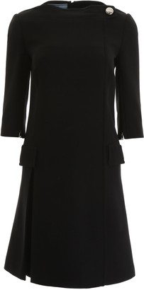 Prada Cady Elbow Length Sleeve Dress