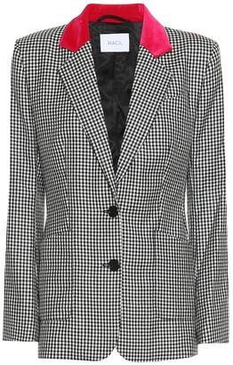 Racil John gingham wool blazer