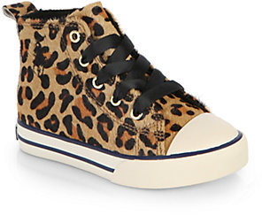 Ralph Lauren Infant's & Toddler's Sag Harbour Leopard Haircalf High-Top Sneakers
