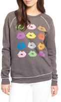 Junk Food Clothing Women's Donald Robertson Lips Sweatshirt