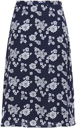 MICHAEL Michael Kors Floral-print Silk-crepe Skirt