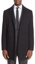 John Varvatos Trim Fit Wool & Cashmere Overcoat