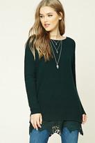 Forever 21 FOREVER 21+ Lace-Hem Dolman Sweater