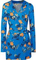 Diane von Furstenberg Celeste Floral-print Silk-jersey Playsuit - Blue