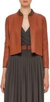 Akris Punto Women's Perforated Leather Bomber Jacket