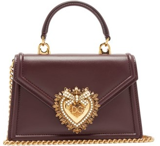 Dolce & Gabbana Devotion Leather Cross-body Bag - Burgundy