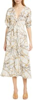 Nicholas Asilah Palm Leaf Print Linen Dress