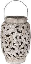 Casa Uno Tall Ornate Candle Holder, Raw Natural