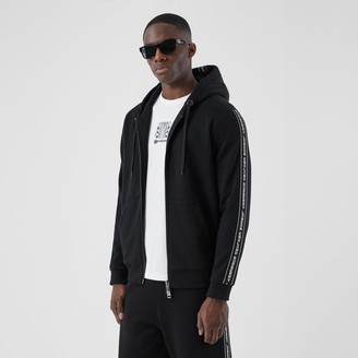 Burberry Logo Tape Cotton Hooded Top