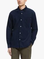 Edwin Minimal Corduroy Shirt, Navy