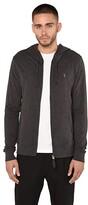 AllSaints Brace Hoodie (Charcoal Marl) Men's Clothing