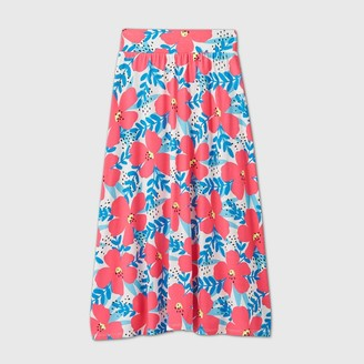 Cat & Jack Girls' Floral Maxi Skirt - Cat & JackTM