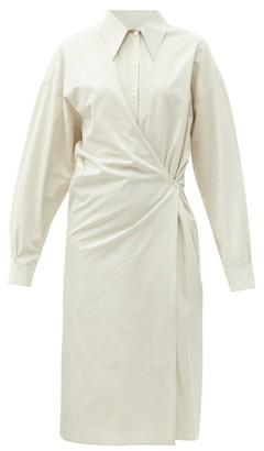 Lemaire Asymmetric Poplin Shirt Dress - Beige