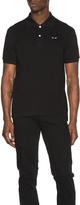 Comme des Garcons Cotton Polo with Black Emblem