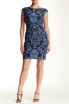 Julia Jordan Cap Sleeve Lace Sheath Dress
