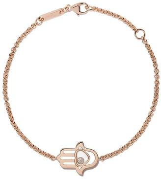 Chopard 18kt rose gold Good Luck Charms diamond bracelet