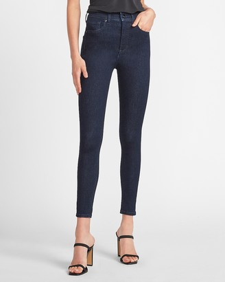 Express High Waisted Dark Wash Skinny Jeans