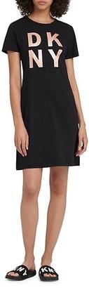 DKNY Stacked Logo T-Shirt Dress
