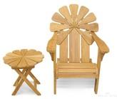 Adirondack Veun Petals Chair with Table Bay Isle Home