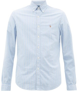 Polo Ralph Lauren Slim-fit Striped Cotton-oxford Shirt - Mens - Blue Multi