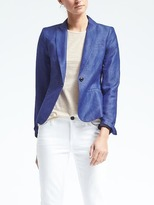 Banana Republic Chambray Linen-Blend Blazer