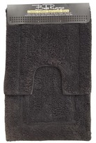2 Piece Black Bath Mat Set