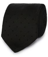 Black Tie Black Self Coloured Spot Tie