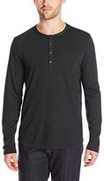 7 For All Mankind Men's Long Sleeve Knit Henley Shirt