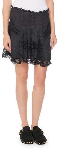 Isabel Marant Ramie Eyelet Mini Skirt