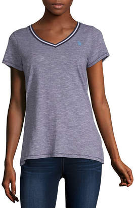 U.S. Polo Assn. Juniors-Womens V Neck Short Sleeve T-Shirt