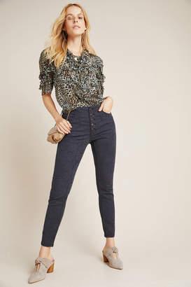 Pilcro And The Letterpress Pilcro High-Rise Jacquard Skinny Jeans
