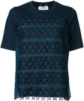 Muveil star crochet T-shirt - women - Cotton/Polyester - 36