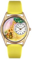 Whimsical Watches Kids' C0150004 Classic Gold Giraffe Yellow Leather And Goldtone Watch