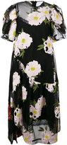 Simone Rocha floral shift dress - women - Cotton/Nylon/Polyester/Viscose - 10
