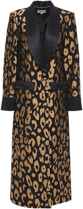 Temperley London Josie Metallic Leopard-jacquard Coat