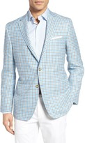 Hickey Freeman Men's Classic Fit Check Wool Blend Sport Coat