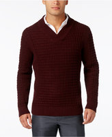 Alfani Men's Big and Tall Textured Shawl-Collar Sweater, Only at Macy's