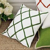 Chain-Link Embroidered Linen Pillows