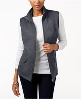 Karen Scott Quilted Zip-Front Vest, Only at Macy's