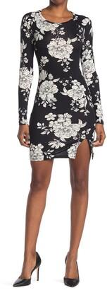 Velvet Torch Ruche Print Vent Mini Dress