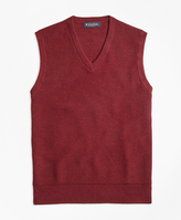 Brooks Brothers Cotton Cashmere Pique Vest