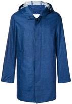 MACKINTOSH Dark Indigo Storm System Linen Short Hooded Coat GM-007B/SH