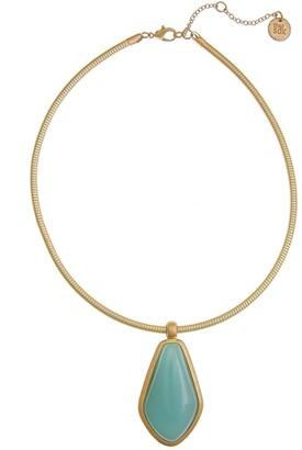 The Sak Mint Pendant Collar Necklace